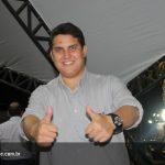 Leitão assado no stand Agrofito Case na Exposul 2015