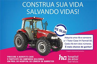 Case IH e sua rede de concessionários fazem Campanha Solidária em prol do Hospital do Câncer de Barretos